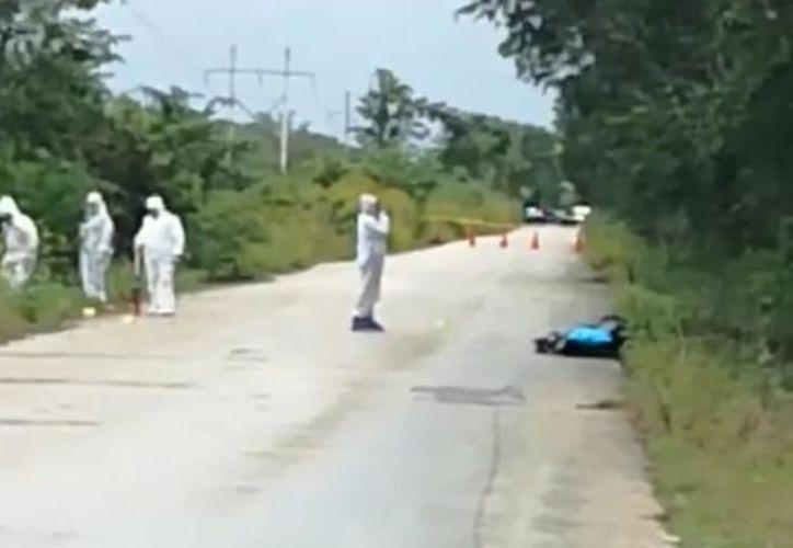 El lunes fue hallado el cuerpo de una mujer en la carretera Halachó-Maxcanú. (Archivo)