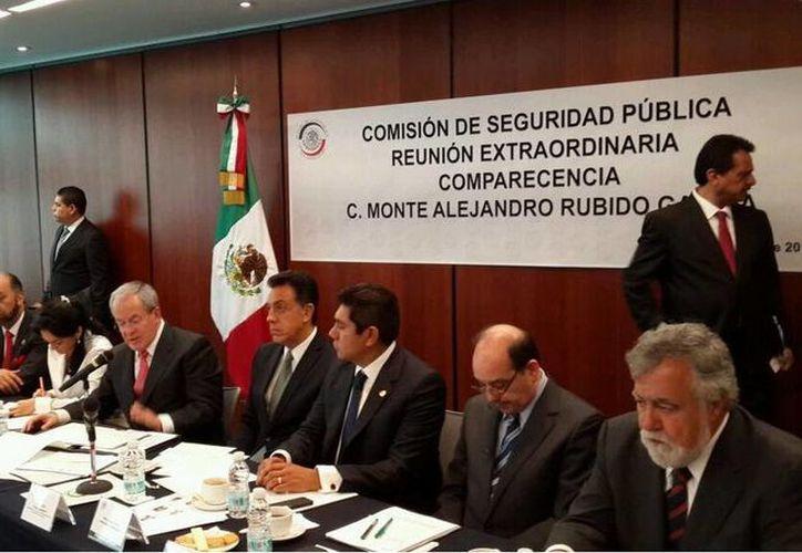 Comparecencia de Monte Alejandro Rubido García ante la Comisión de Seguridad Pública del Senado de la República. (Twitter.com/@omarfayad)