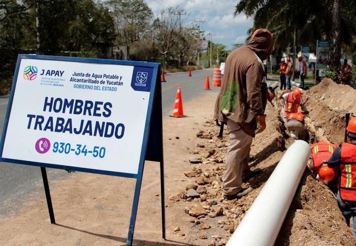 En lo va de esta administración se ha reparado otras tres fugas en este mismo tramo del Centro. (Novedades Yucatán)