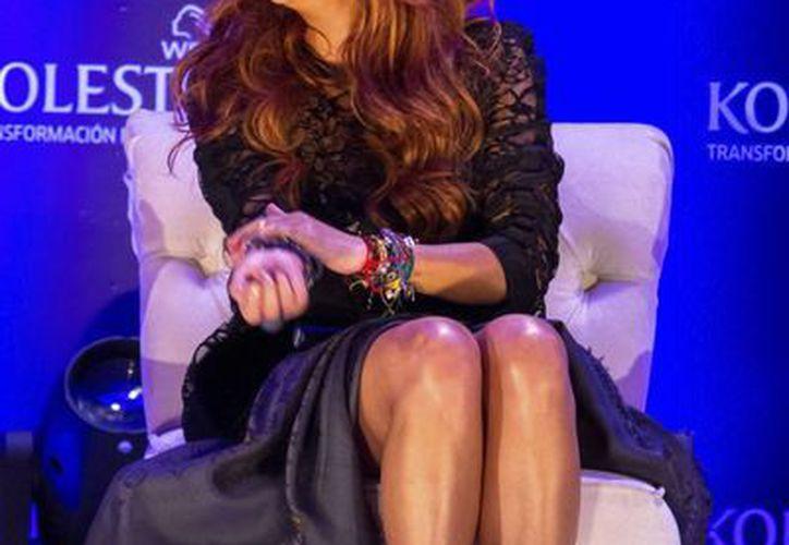 Paulina Rubio será la imagen de una marca de tintes para el cabello. (Notimex)