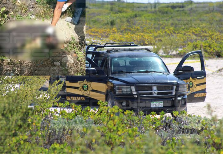 FGE identifica el cuerpo hallado en el interior de una maleta, en Chuburna Puerto.  (SIPSE)