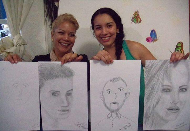 El taller de artes visuales La Madeja de las Ideas ofrece el antes y el después de sus alumnos. (Alejandra Flores/SIPSE)