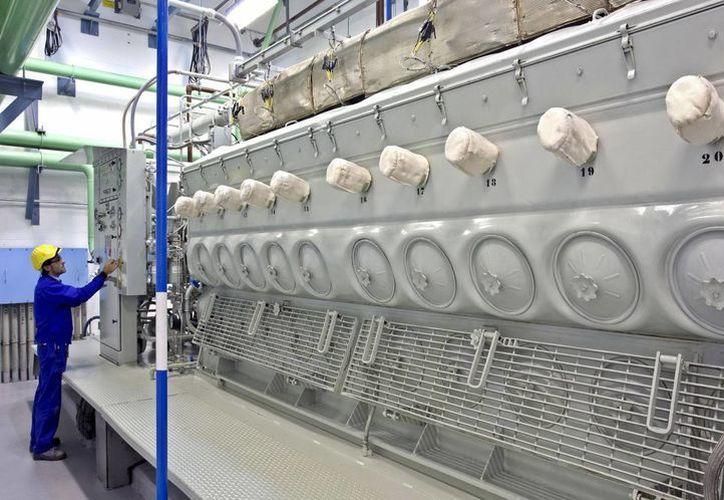 En la foto de archivo interior de la central. (Archivo/EFE)