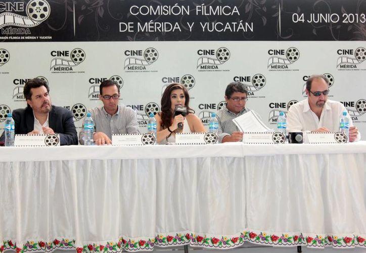 Las autoridades que integran la Comisión Fílmica de Mérida y Yucatán. (SIPSE)