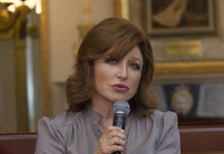 Angélica María ofreció un segundo concierto en la Ciudad de Mérida, este pasado miércoles.(Notimex)