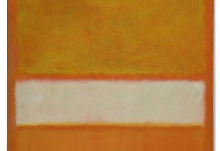 """El óleo """"Sin título (No.11)"""" pintado por Mark Rothko, es reminiscencia de un atardecer radiante. (Agencias)"""
