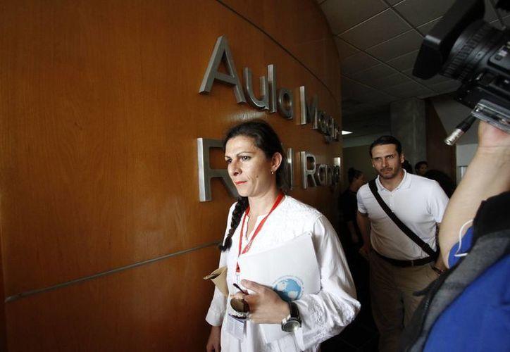 Ana Gabriela Guevara, senadora de la república y presidenta del Conejo Parlamentario Regional sobre Migraciones, va por la gubernatura en 2015. (Notimex/Foto de archivo)