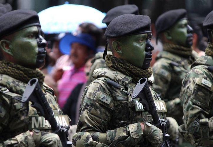El 49.7% de los elementos de la Sedena y la Semar participa en la lucha contra el narcotráfico.(Notimex/archivo)