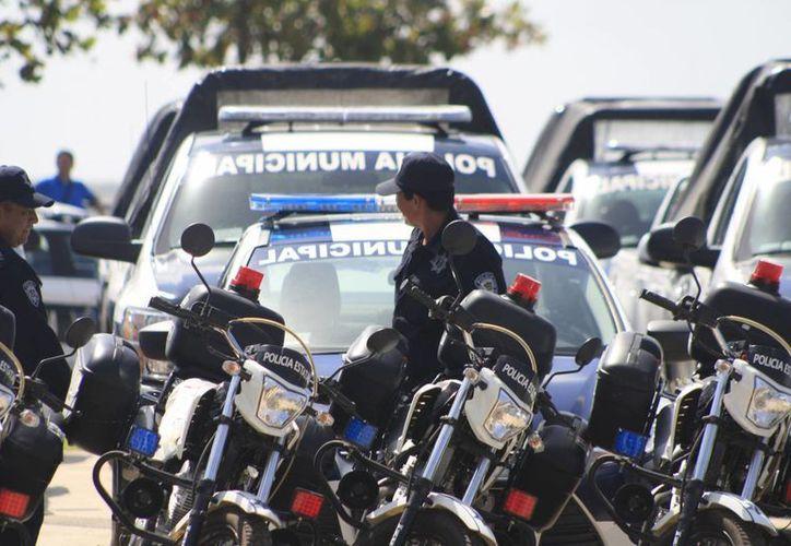 Los Ayuntamientos el estado deberán destinar los recursos para la capacitación, equipamiento, prevención del delito y profesionalización de los cuerpos policíacos. (Archivo/SIPSE)