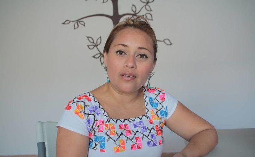 Perla Tun Pech, diputada local, pide la presentación y aprobación de las cuentas públicas. (Julián Miranda/SIPSE)
