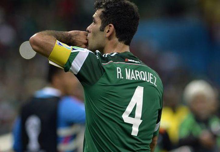 Rafael Márquez se despidió de Brasil con dolor, ya que fue el último mundial en el que participará como jugador. (Notimex)
