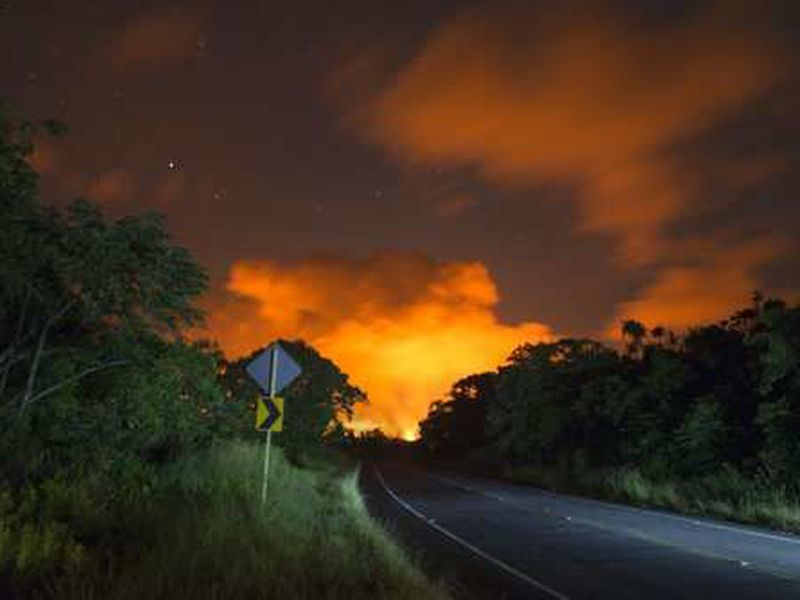 Authorities handed out around 2,000 masks for protection for people living near the volcano. (AP)
