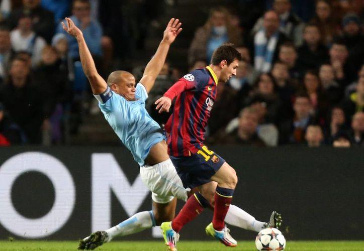 En el partido con los 'citizens' Messi hizo gala de su velocidad. (Agencias)