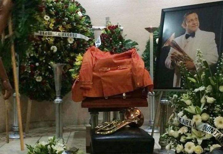 Imagen del funeral de Aldo Sarabia, integrante de la Banda El Recodo. (@id_grupera)
