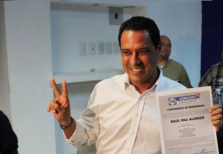 Raúl Paz Alonzo fue acreditado como presidente del Comité Directivo Estatal del PAN para el periodo 2015-2018. (Imagen tomada del Facebook de Raúl Paz)