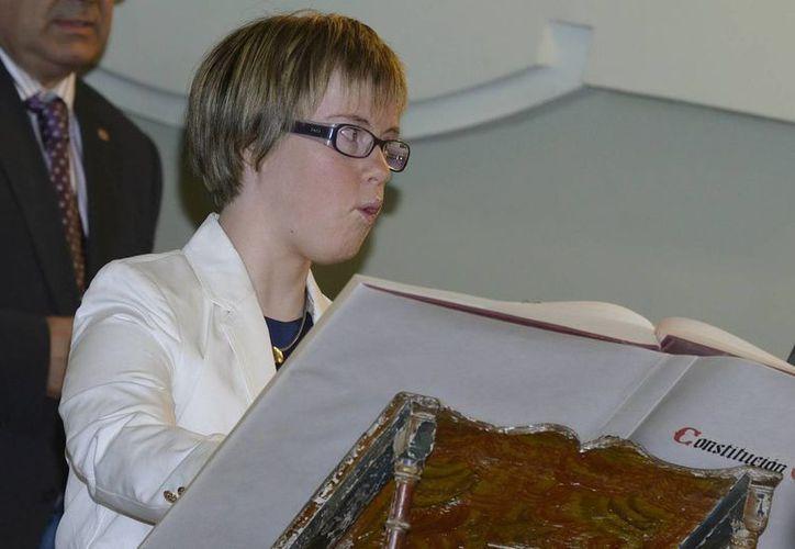 Ángela Bachiller se presentó a las últimas elecciones municipales de Valladolid -mayo 2011- en la lista del PP. (EFE)