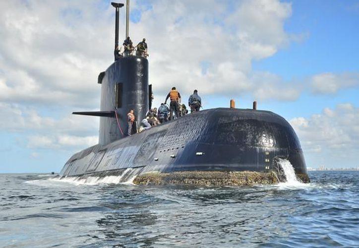 El submarino desapareció con con 44 tripulantes a bordo. (AP)