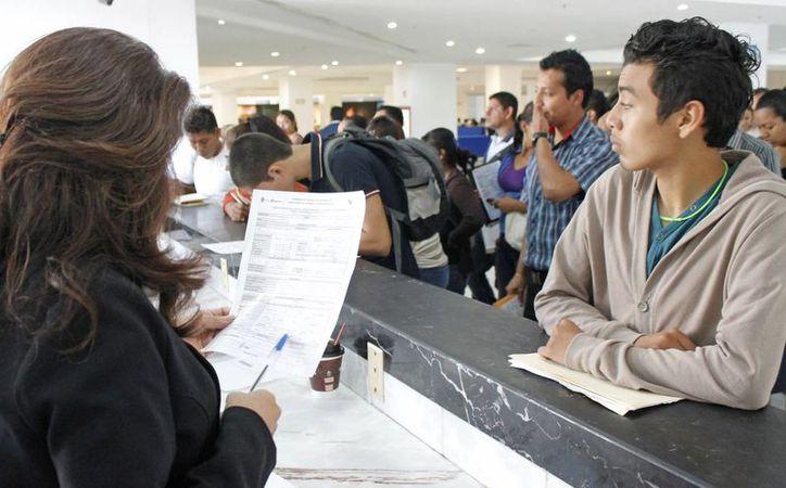 La ciudadanía verifica en la regiduría la oferta laboral. (Jesús Tijerina/SIPSE)