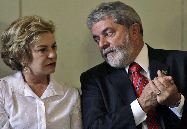 La esposa del expresidente Lula estuvo hospitalizada desde el 24 de enero. (AP/Ricardo Moraes)