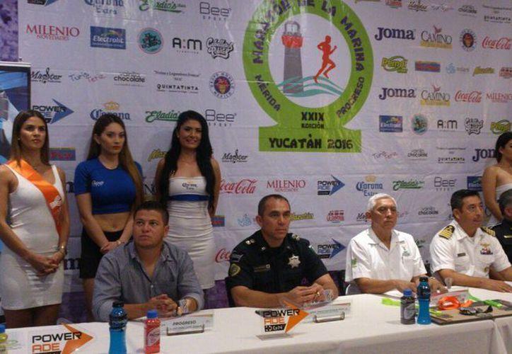 Imagen de la conferencia de prensa de la presentación de los detalles del Maratón de la Marina 2016. (José Acosta/Milenio Novedades)