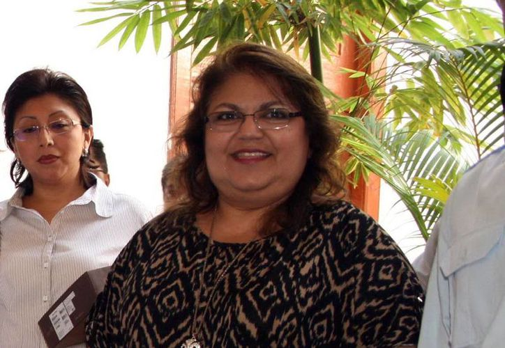 María Elena Achach dijo que el Ipepac fomenta la cultura democrática. (Milenio Novedades)