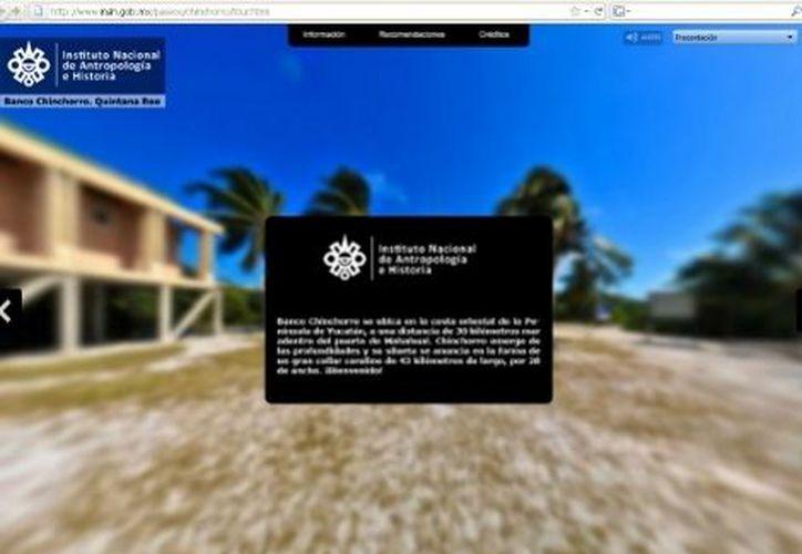 El recorrido virtual por Banco Chinchorro invita a conocer tesoros sumergidos. (Milenio)