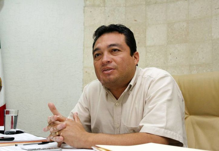 El líder de la Sección 57 del SNTE,  Ángel Burgos Narváez, considera viable propuesta de Canaco. (Milenio Novedades)