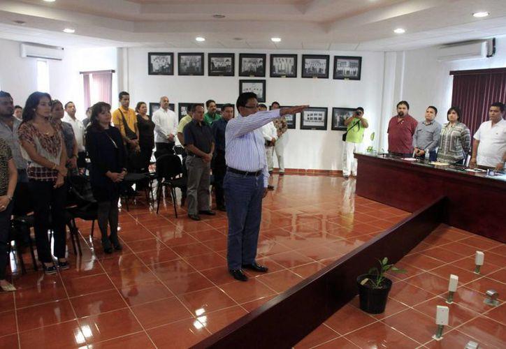 Aspectos de la designación del nuevo tesorero del ayuntamiento de Othón P. Blanco, César Rey  Euán Tun. (Juan Palma/SIPSE)