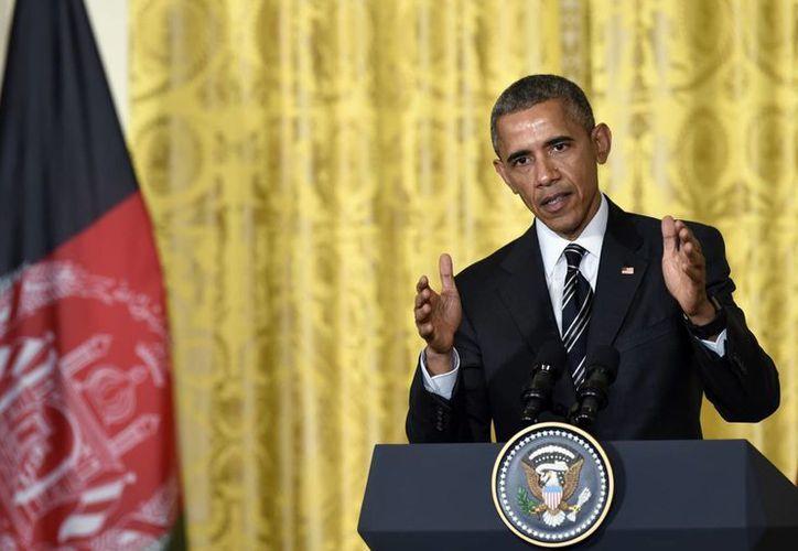 Obama indicó que el plan de salida total de Afganistán de las tropas de combate para fines del 2016 se mantienen sin cambios. (AP)