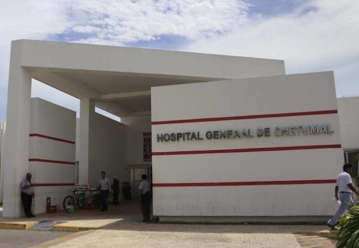 La joven continúa grave en el Hospital General de Chetumal. (Foto: Contexto/SIPSE)