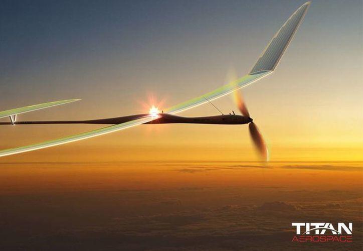 Un prototipo del UAV Solara 60 de la firma Titán Aerospace, empresa que pretende comprar la red social Facebook. (internet)