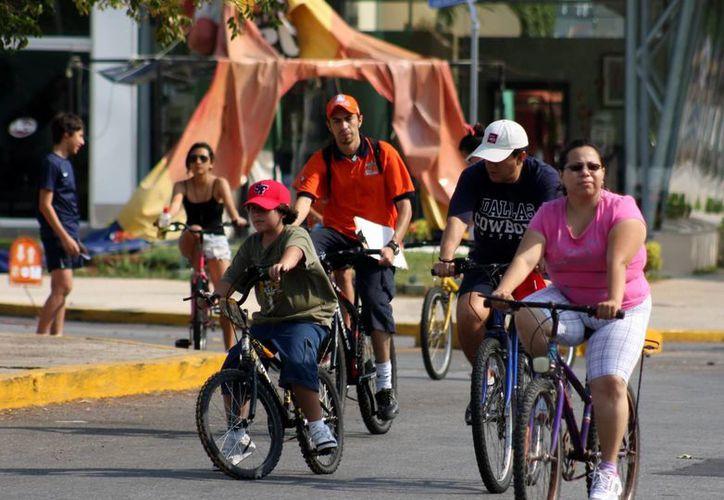 Durante los domingos de diciembre la Bici-ruta llegara solo hasta Santa Ana. (SIPSE)