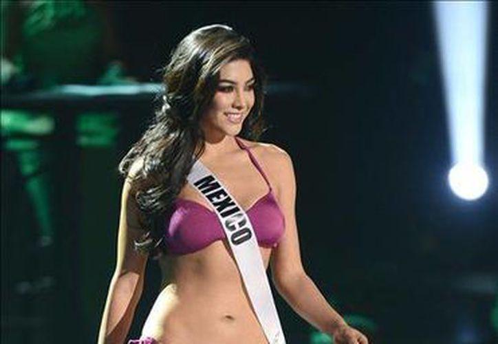 La representante de México, Wendy Esparza, fue registrada este viernes para participar en el concurso Miss Universo, en Las Vegas. (EFE)