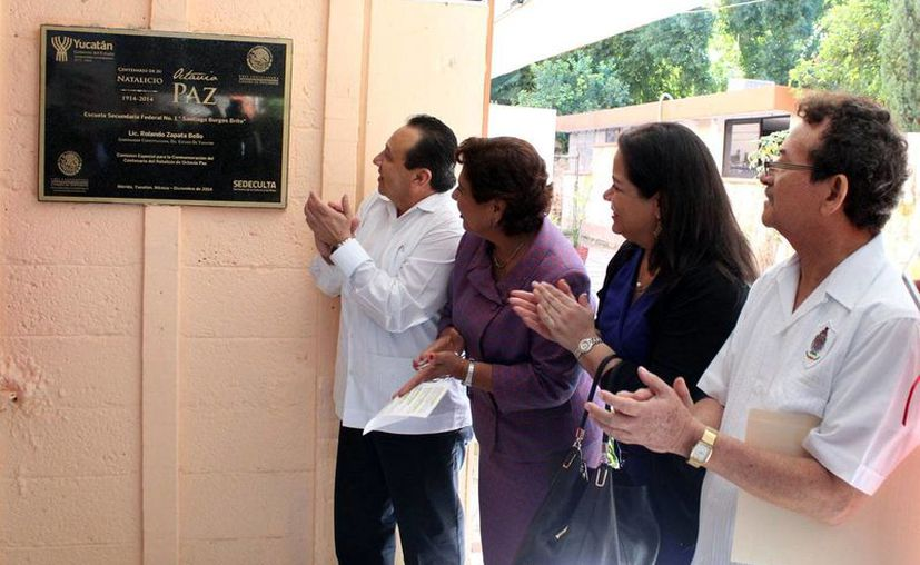 Con varias actividades en varios estados del país, entre ellos Mérida, fue recordado el escritor mexicano Octavio Paz. (Luis Pérez/Milenio Novedades)