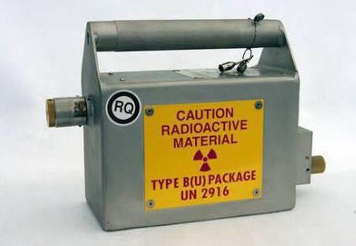 La fuente radiactiva que puede ser peligrosa para la salud humana, si se extrae de su contenedor. (Foto: SEGOB)