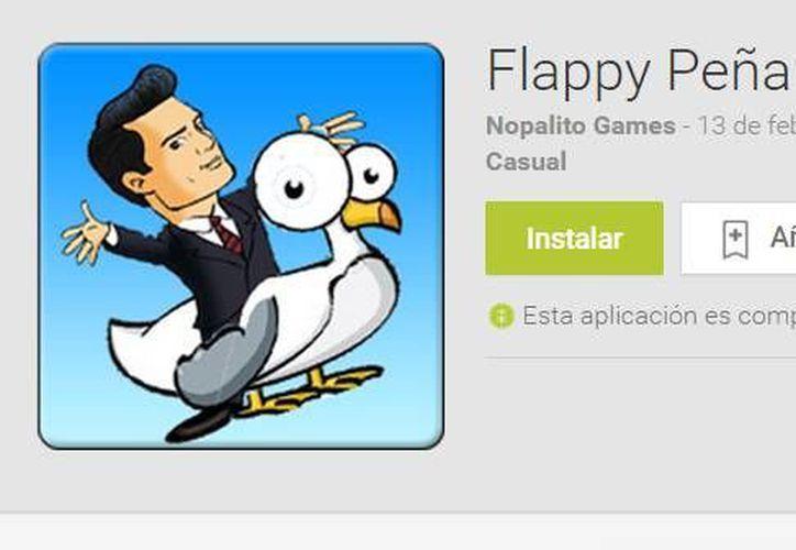 'Flappy Peña' salió a la tienda de Google Play desde el pasado 10 de febrero. (Google Play)