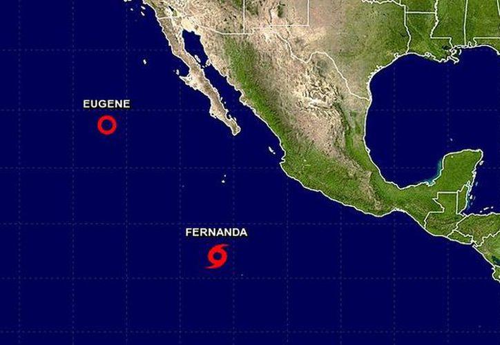 No afecta al país, ya que se ubica a 1.025 kilómetros al suroeste de Manzanillo, Colima y a mil 225 kilómetros al sur de Cabo San Lucas. (NOAA)