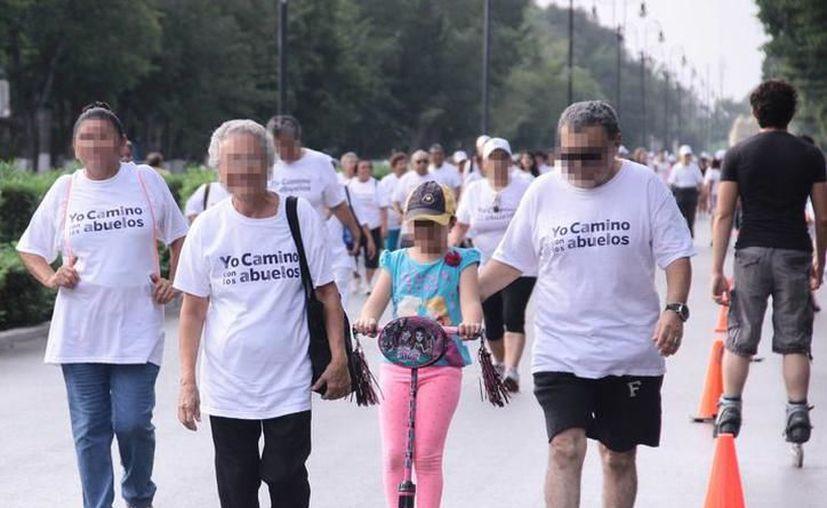 Imagen del evento 'Yo camino con los abuelos' en Mérida. (Jorge Acosta/SIPSE)