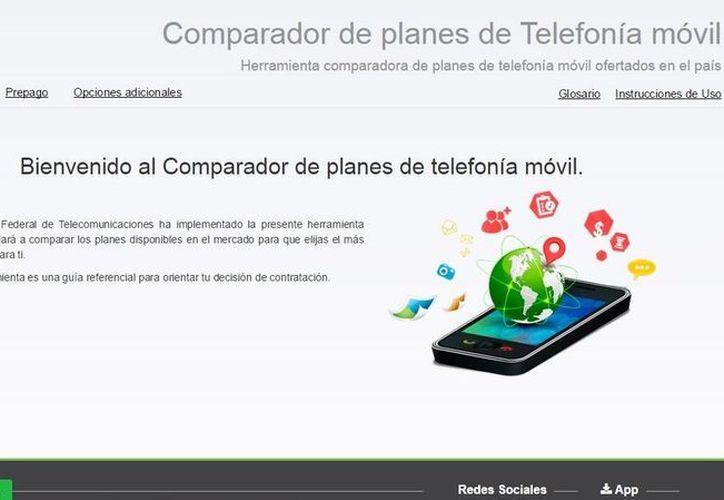 """El 'Comparador de Tarifas de Telefonía Móvil' se puede utilizar ingresando al portal de Ifetel (www.ift.org.mx) , en el apartado """"Usuarios y Audiencias"""". (Imagen tomada de ift.org.mx)"""