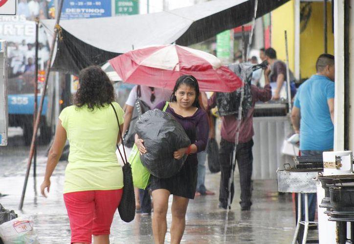 Las precipitaciones provocaron encharcamientos en varios puntos de la ciudad. (Archivo/SIPSE)