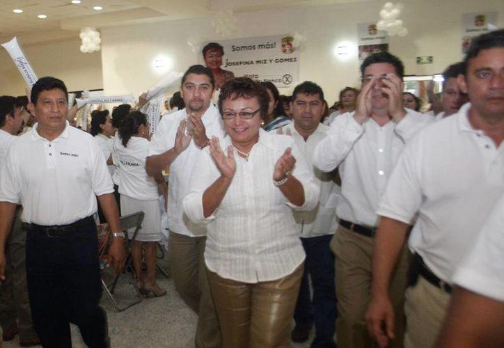 Cierre de campaña de Josefina Mis y Gómez, representante de la planilla blanca. (Christian Ayala/Milenio Novedades)