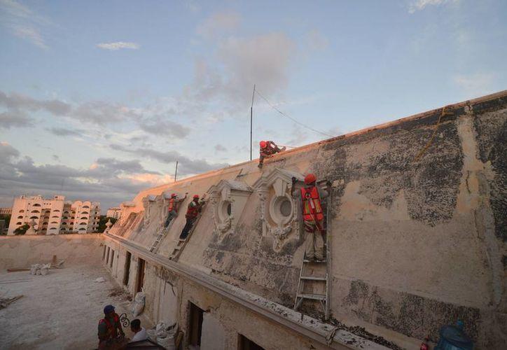 Las mejoras hechas al Museo Regional de Antropología 'Palacio Cantón' concluirán en febrero.  (SIPSE)