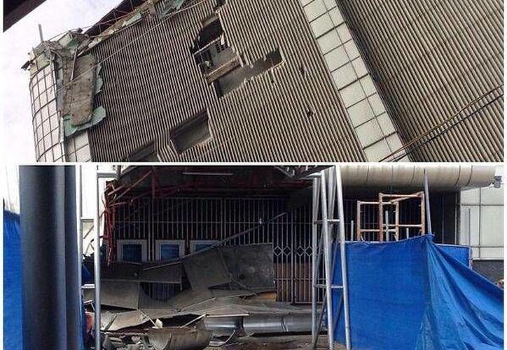 La universidad quedó destrozada por las sacudidas del fenómeno telúrico. (Imagen tomada de Twitter/Internet)