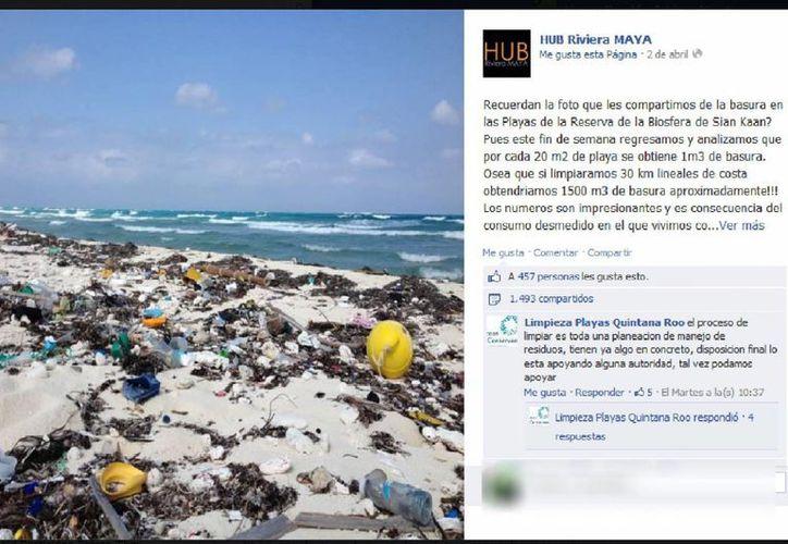 HUB Riviera Maya promueve la limpieza de la costa con diversos lemas, teniendo repercusión internacional. (Redacción/SIPSE)
