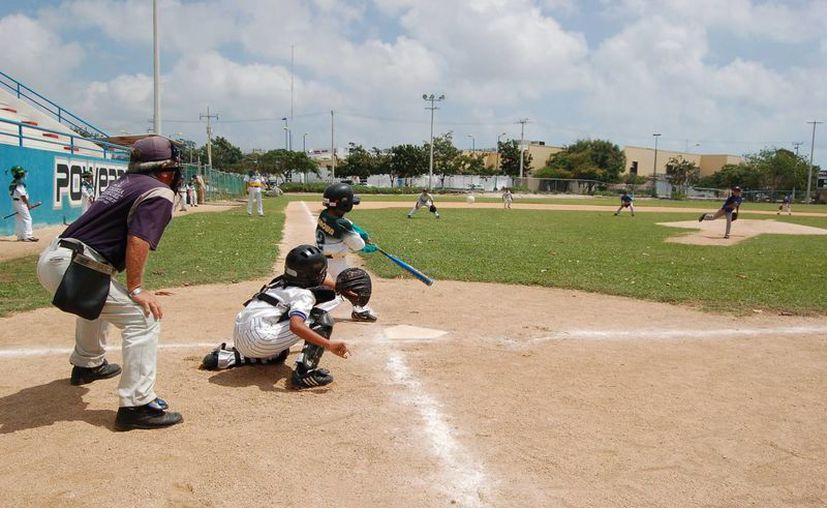 El sábado inician las acciones en la liga de béisbol infantil. (Redacción/SIPSE)