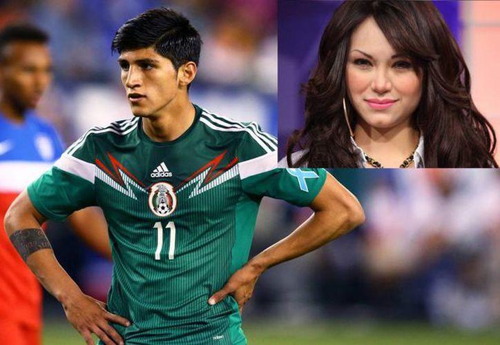 El futbolista Alan Pulido y la presentadora Vivián Cepeda (recuadro) al parecer mantienen una tórrida relación. (Fotos: soccerly.com/guiajarocha.com)