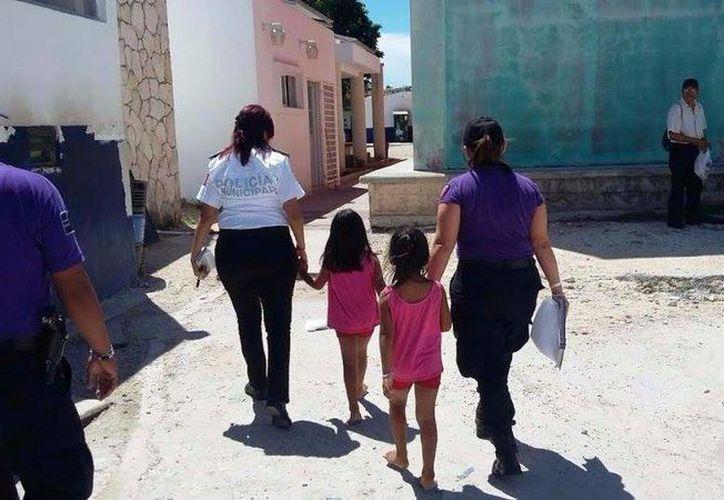Las niñas fueron llevadas al Centro de Asistencia Temporal del DIF para ser valoradas médicamente. (Redacción/SIPSE)