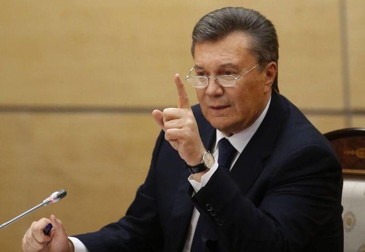 Dice el presidente de Ucrania 'destituído' que pedirá al Congreso y la Corte Suprema estadunidenses evaluar las decisiones del presidente Barack Obama. (Archivo/Agencias)