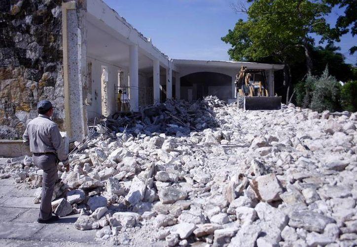 La edificación de la nueva iglesia tardará varios meses. (Christian Ayala/SIPSE)
