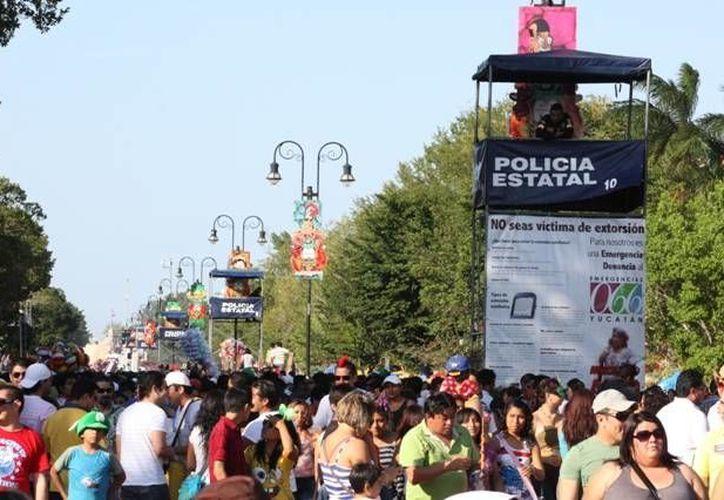 La policía ha dispuesto varias estrategias para garantizar la seguridad en el Carnaval de Mérida. (SIPSE)